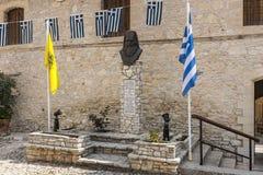 Timios斯塔夫罗斯修道院Omodos塞浦路斯 库存图片