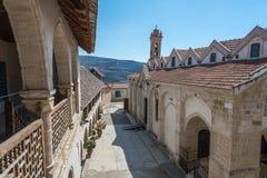 Timios Stravos kloster Omodos Cypern Arkivbild