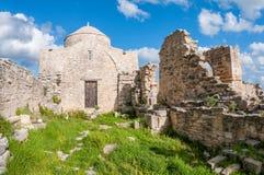 Timiou Stavrou中世纪修道院  利马索尔区 塞浦路斯 免版税图库摄影