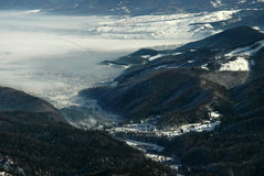 Timis valley in Romania, winter time Royalty Free Stock Image