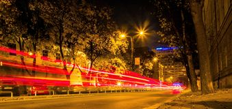 Timisoara τή νύχτα 2 Στοκ εικόνα με δικαίωμα ελεύθερης χρήσης