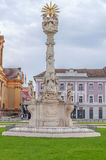 TIMISOARA, деталь РУМЫНИИ - 15-ое октября 2016 статуи святой троицы на квадрате 1 соединения Стоковая Фотография