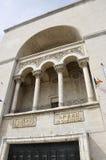 Timisoara, 22-ое июня: Балкон здания оперы от квадрата победы в городке Timisoara от графства Banat в Румынии Стоковая Фотография