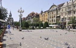 Timisoara, 19-ое июня: Квадрат победы в городке Timisoara от графства Banat в Румынии Стоковая Фотография RF