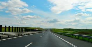 Timisoara Arad Highway. The highway from Arad to Timisoara city Romania landscape Royalty Free Stock Photography