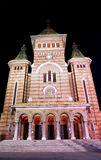 Timisoara cathedral. Timisoara orthodox cathedral night view Stock Images