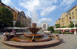 Timisoara center. Timisoara is a city Western Romania. The anticommunist revolution in 1989 started on December, 16th, in Timisoara Stock Photo