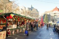 Timisoara christmas fair. Christmas fair in the city of Timisoara, Romania stock photos