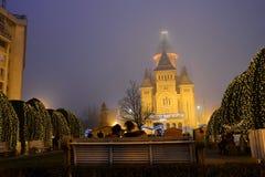Timisoara City Cathedral winter Stock Image