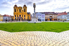 Timisoara city, Romania. Union square or Unirii Square is the main square of the city of Timisoara, Romania Royalty Free Stock Photo