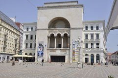 Timisoara, Czerwiec 22nd: Opera budynek od zwycięstwo kwadrata w Timisoara miasteczku od Banat okręgu administracyjnego w Rumunia Zdjęcie Royalty Free