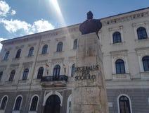 Timisoara Decebalus per scoriloen, staty fotografering för bildbyråer