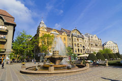 Timisoara- Fish fountain Royalty Free Stock Photography