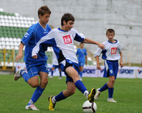 Timisoara - granicar youth soccer game Royalty Free Stock Photo
