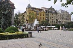 Timisoara, il 21 giugno: Victory Square nella città di Timisoara dalla contea di Banat in Romania Immagine Stock Libera da Diritti