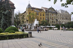 Timisoara, June 21st: Victory Square in Timisoara town from Banat county in Romania Royalty Free Stock Image