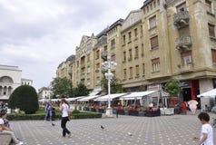 Timisoara, 21 Juni: Victory Square in Timisoara-stad van Banat-provincie in Roemenië Stock Foto