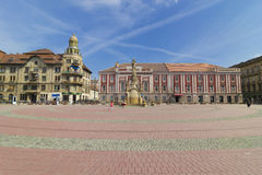 Timisoara the  Liberty Square Stock Image