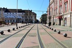 Timisoara liberty tram way Stock Photos