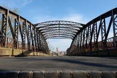 Timisoara metal bridge Royalty Free Stock Image