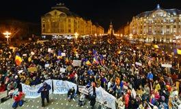 Timisoara miasta protest Zdjęcia Royalty Free