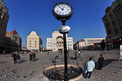 Timisoara Opera Square, Romania Royalty Free Stock Photo