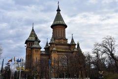 Timisoara ortodoxdomkyrka Arkivfoto