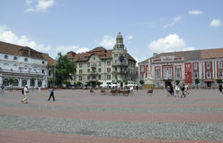 Timisoara RO,June 21st: Liberty Square in Timisoara town from Banat county in Romania Royalty Free Stock Photos