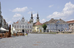 Timisoara RO,June 22th: Historic Buildings from Union Square in Timisoara town from Banat county in Romania Stock Images