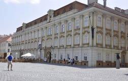 Timisoara RO, am 22. Juni: Barocker Palast von Union Square in Timisoara-Stadt von Banats-Grafschaft in Rumänien Lizenzfreies Stockbild