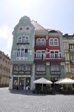 Timisoara RO, am 22. Juni: Bruck-Haus von Liberty Square in Timisoara-Stadt von Banats-Grafschaft in Rumänien Stockfotos