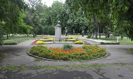 Timisoara RO, am 22. Juni: Central Park-Statuen in Timisoara-Stadt von Banats-Grafschaft in Rumänien Lizenzfreie Stockfotos