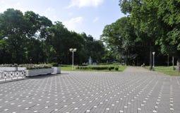 Timisoara RO, 21 Juni: Central Park in Timisoara-stad van Banat-provincie in Roemenië Stock Fotografie