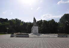 Timisoara RO, 21 Juni: Central Parkmonument in Timisoara-stad van Banat-provincie in Roemenië Royalty-vrije Stock Foto's