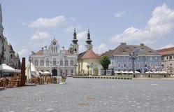 Timisoara RO, am 22. Juni: Historische Gebäude von Union Square in Timisoara-Stadt von Banats-Grafschaft in Rumänien Stockbilder