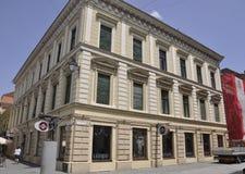 Timisoara RO, am 23. Juni: Historisches Gebäude in Timisoara-Stadt von Banats-Grafschaft in Rumänien Stockbilder