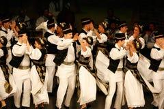 TIMISOARA, ROMÊNIA 12 10 2014 dançarinos romenos do folclore fotos de stock