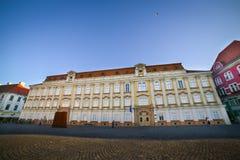 Timisoara, Romania - The Baroque Palace - The Art Museum in Piata Unirii Union Square Royalty Free Stock Photos