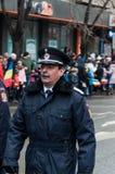 National Day parade. TIMISOARA, ROMANIA - DECEMBER 1, 2017: National Day parade in Romania. Bobby police Stock Image