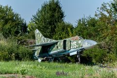 Old weathered Mikoyan-Gurevich MiG-23MF Royalty Free Stock Images