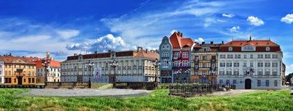 TIMISOARA, ROMANIA - JULY 04, 2015: Panoramic view with historical buildings in Union square.Timisoara, Romania Stock Photo