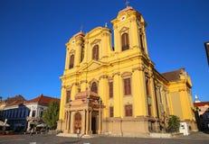 Timisoara, Romania - Piata Unirii Union Square with the Catholic Dome Stock Photos