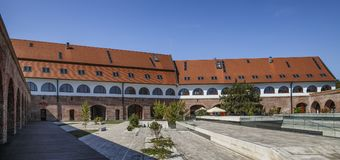 View of the bastion Maria Theresia,  Timisoara. TIMISOARA, ROMANIA - SEPTEMBER 08, 2017:  View of the bastion Maria Theresia -  the medieval fortress of the Royalty Free Stock Photography