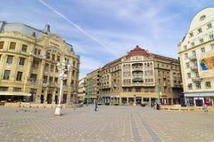 Timisoara, Romania : The Victory Square in Timisoara Stock Image