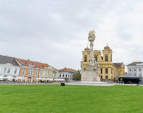 TIMISOARA, ROUMANIE - 15 octobre 2016 détail de la statue de trinité sainte à la place des syndicats Photo stock