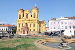 Timisoara small cathedral. Orthodox cathedral in center of Timisoara Royalty Free Stock Photography