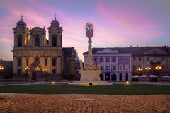 Timisoara stad, Rumänien arkivbild