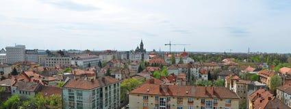 Timisoara stadspanorama Arkivbilder