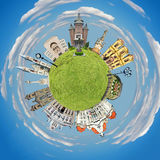 Timisoara tiny planet Stock Image