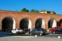 Timisoara trafikstockning Arkivbild